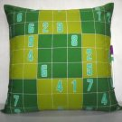 "Sudoku Game(1) on 18""x18"" batik painted cushion cover"