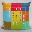 "Sudoku Game(3) on 16""x16"" batik painted cushion cover"