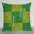 "Sudoku Game(2) on 18""x18"" batik painted cushion cover"