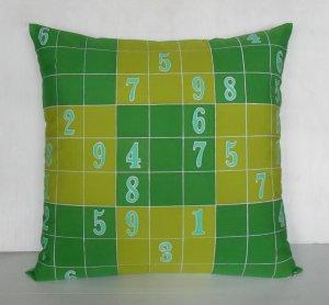 "Sudoku Game(2) on 18""x18"" batik painted cushion cover"
