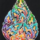 """Shaw-Hang-To""(2) -Thai art in 7""x10"" batik painting"