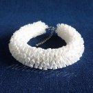 Eco Recycled Plastic Drinking Straw White Garland Bracelet(1) woman bangle Handmade Jewelry