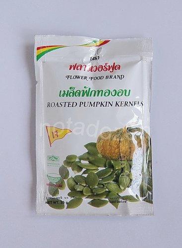 """""""Flower Food Brand"""" Roasted Pumpkin Kernels 2x25 grams/Thai healthy food snack"""