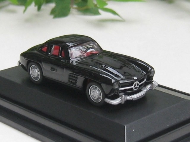 High Speed 1/87 Diecast Model Car Mercedes Benz 300SL Wing Door 1954  BLACK Classic Car
