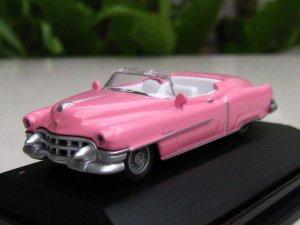 High Speed 1/87 Diecast Car Model Classic Cadillac Eldorado 1953 ( PINK ) 5.5cm
