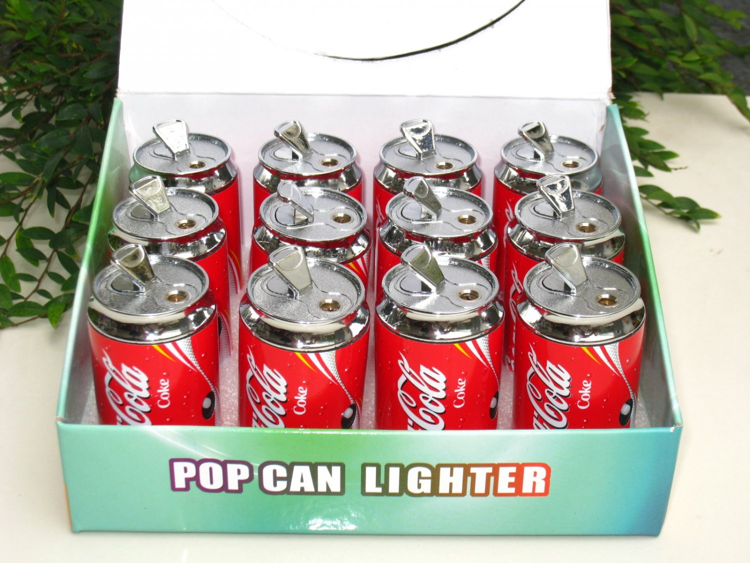 Lighter Coca-Cola COKE Can Shape With Torch Light 12nos