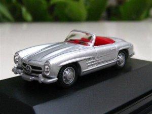 High Speed 1/87 Diecast  Model Car Mercedes Benz 300SL Cabrio 1954 SILVER Classic Car