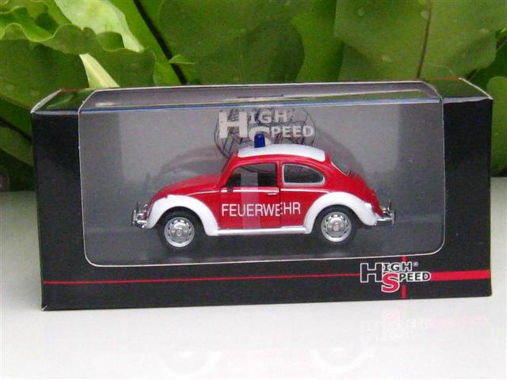 High Speed 1/43 Diecast  Model Car Volkswagen VW Kafer FEUERWEHR RED
