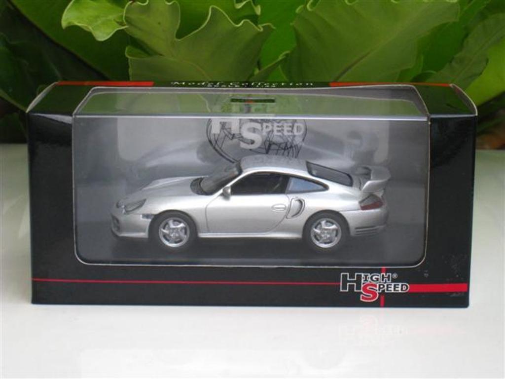 High Speed 1/43 Diecast Model Car Porsche 911 GT2 (Silver) 2000