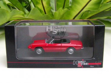 High Speed 1/43 Diecast  Model Car Alfa Romeo Spider 1300 Junior Cabrio  Red