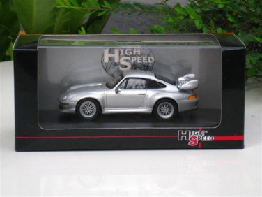 High Speed 1/43 Diecast  Model Car Porsche 911 GT2 1996 SILVER