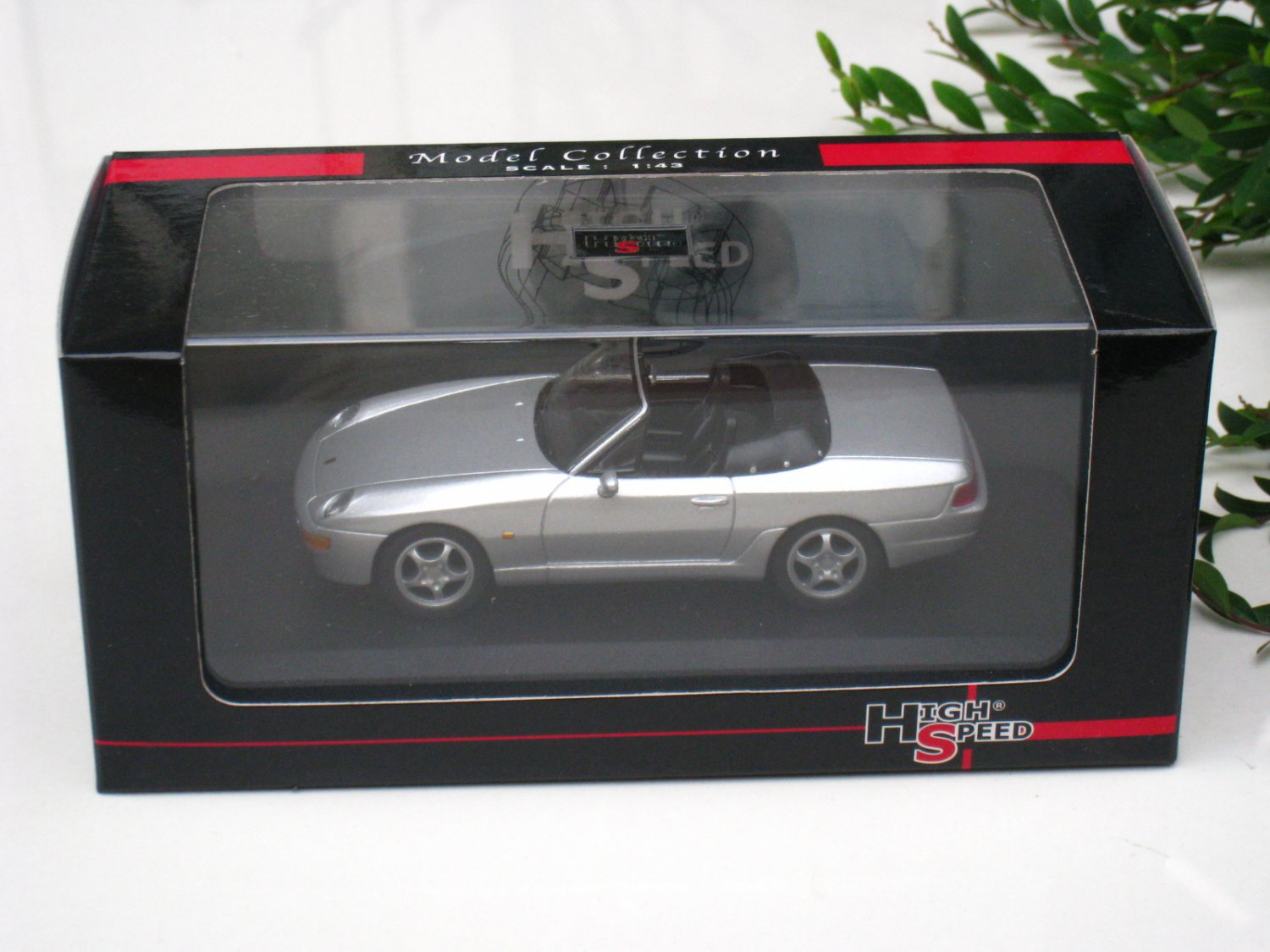 High Speed 1/43 Diecast  Model Car  Porsche 968 Cabrio 1993 Silver