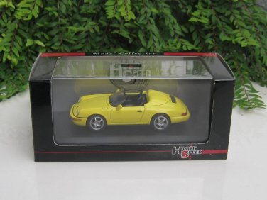 High Speed 1/43 Diecast  Model Car Porsche 964 Speedster 1993 YELLOW