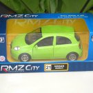 "RMZ City (5"") Die cast Model  Car Nissan March APPLE GREEN"