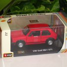 Bburago 1/32 Die cast Model VW Golf MK1 GTi RED