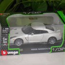 Bburago 1/32 Die cast Model 2009 Nissan GTR WHITE