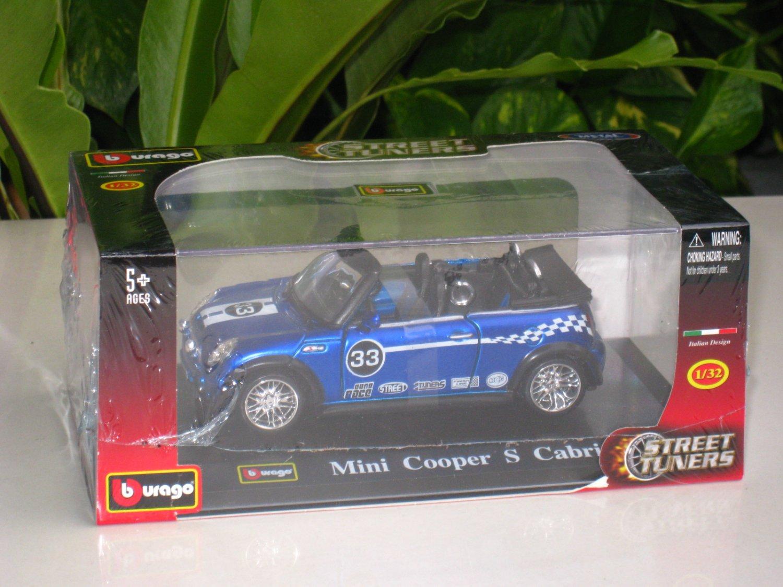 Bburago 1/32 Die cast Model Car  Mini Cooper S Cabrio #33