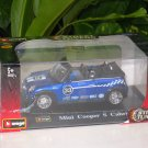 Bburago 1/32 Die cast Model Car  Mini Cooper S Cabrio #33