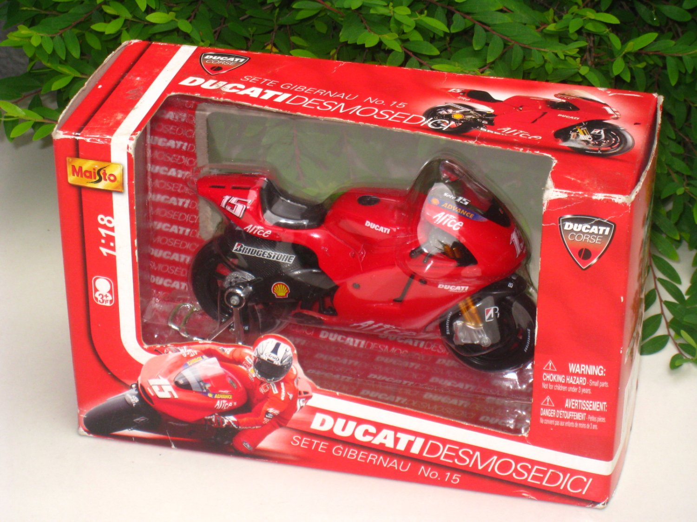 Maisto 1/18 MOTO GP 2006 Ducati Desmosedici (ALICE) #15 Sete Gibernau