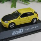 Yodel 1/72 Diecast Car Model INITIAL D Honda Civic Type R (EK9) - upgrade version