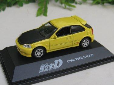 Yodel 1/72 Diecast Car Model INITIAL D Honda Civic Type R (EK9) - upgrade version