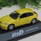 Yodel 1/72 Diecast Car Model INITIAL D Honda Civic Type R (EK9)