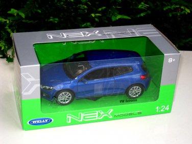 Welly  1/24 Diecast Car Model VW Volkswagen Scirocco BLUE