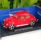 1/18 Diecast Car Model Volkswagen VW Beetle RED