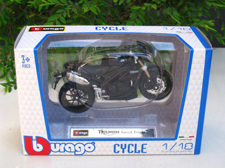 Bburago 1/18 Diecast Motorcycle Triumph Speed Triple