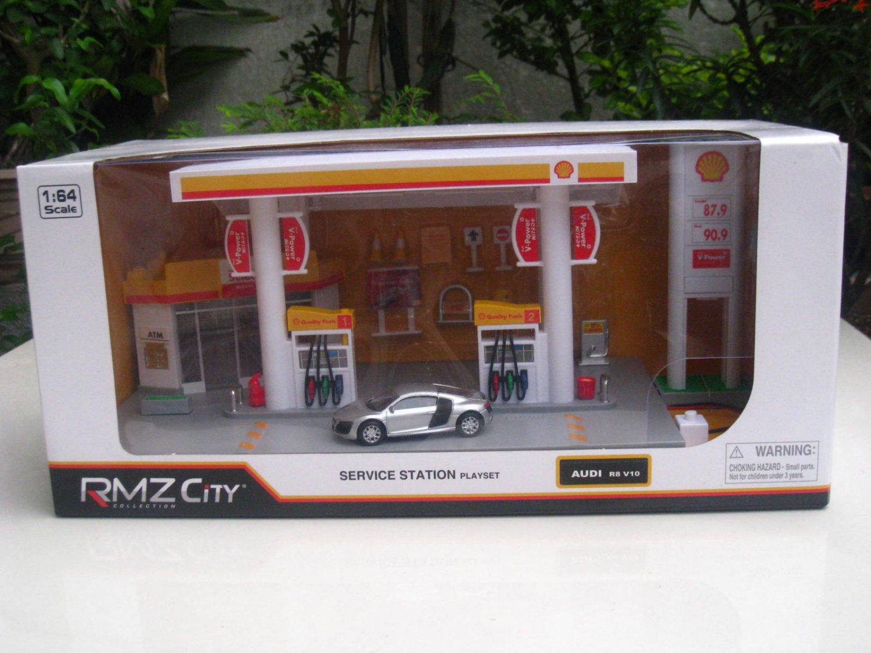 Rmz City 1 64 Plastic Petrol Station Playset Shell