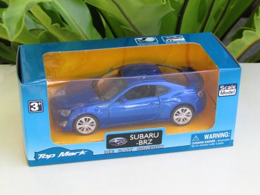 "Top Mark 1-39 ( 5"") Diecast  Model Car Subaru BRZ 2013  (Blue)"