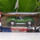 New Ray 1/43  Diecast model car  Chevrolet Corvette 1969  GREEN