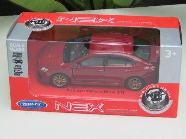 Welly 1/34-1/39 Die cast Car Subaru Impreza WRX STI 2015 RED(11cm)