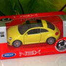Welly 1/34-1/39 Die cast Car VW Volkswagen New Beetle YELLOW(11cm)