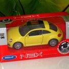 Welly 1/34-1/39 Die cast Car VW Volkswagen New Beetle YELLOW(11cm)