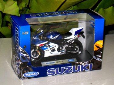 Welly 1/18 Diecast Motorcycle Suzuki GSX-R750