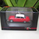 High Speed 1/87 Diecast Model Car Chevy Bel Air 1955 Red(6cm)