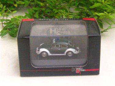 High Speed 1/87 Diecast Moder Car VW Volkswagen Kafer Beetle POLIZEI DARK GREEN