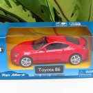 "Top Mark (5"") 1/34 Diecast  Model Car 2012 Toyota 86 GTS (Red)"