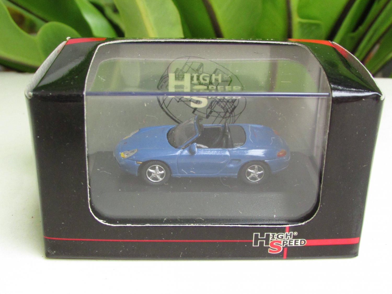 High Speed 1/87 Diecast Car Model Porsche Boxster Cabrio Blue(5cm)