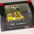 High Speed 1/87 Diecast Model Car ABT- Audi TT-R #2 Dekra Racing (5cm) Yellow