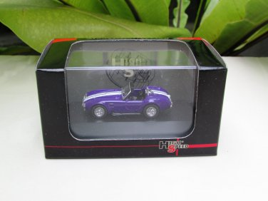 High Speed 1/87 Diecast Model Car  1969 Shelby Cobra 427 S/C (Purple) 4.5cm