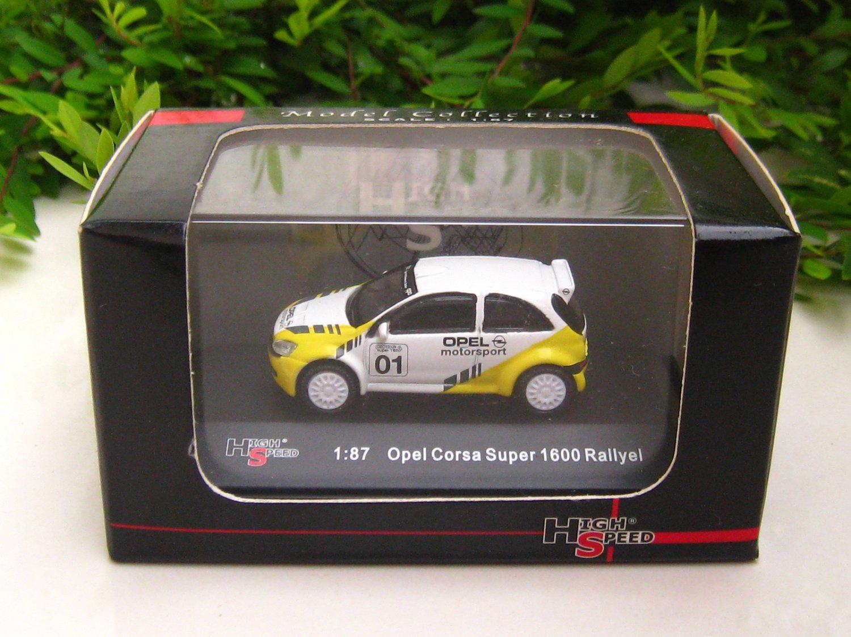 High Speed 1/87 Diecast Model Car  Opel Corsa Super 1600 Rallye #1 (4.5cm)