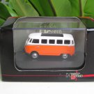 High Speed 1/87 Diecast Car Model  Classic Volkswagen VW Bus T1 Samba Bus Orange (5cm)