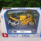 Bburago 1/18 Diecast Motorcycle Ducati ST4s (Yellow)