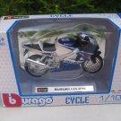 Bburago 1/18 Diecast Motorcycle Suzuki GSX-R750 (Blue)