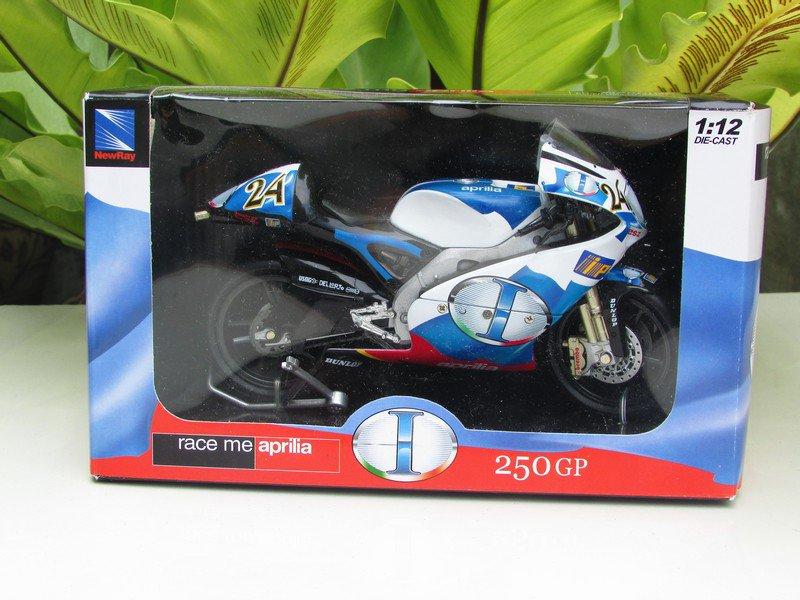 New Ray 1/12 Diecast Moto GP 2005 APRILIA RSW250 # 24 Simone Corsi