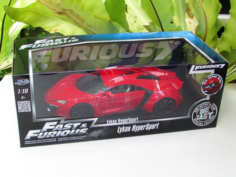 Jada Fast & Furious Series -1/18 Lykan HyperSport (RED )