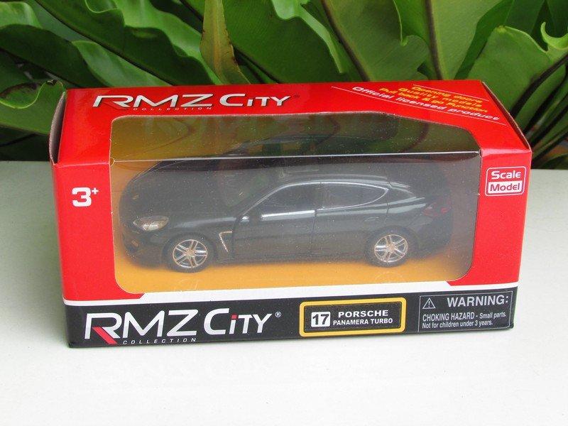 "RMZ (5"") Die cast Model #17 PORSCHE PANAMERA TURBO  (Black)"