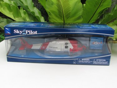 New Ray Sky Pilot 1/60 Die cast Helicopter Sikorsky Jayhawk HH 60J (White/Red) 24cm